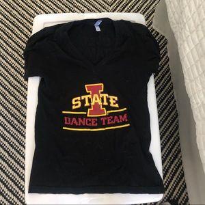 Iowa state dance team v neck